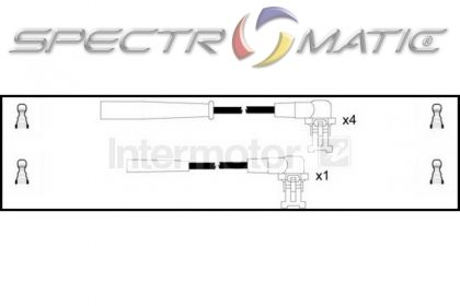 spectromatic ltd  73236 ignition cable leads kit renault 19 clio extra megane 7700742835