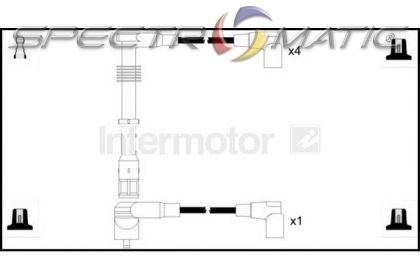 spectromatic ltd  73702 ignition cable leads kit audi 100 80 a6 2 0 ace