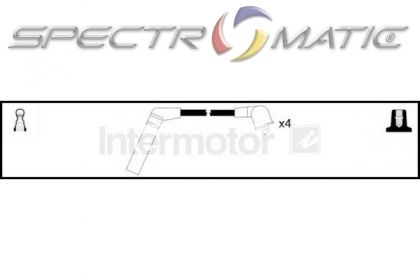 spectromatic ltd  73786 ignition cable leads kit mitsubishi colt galant 1 3 1 8 4g13 4g37