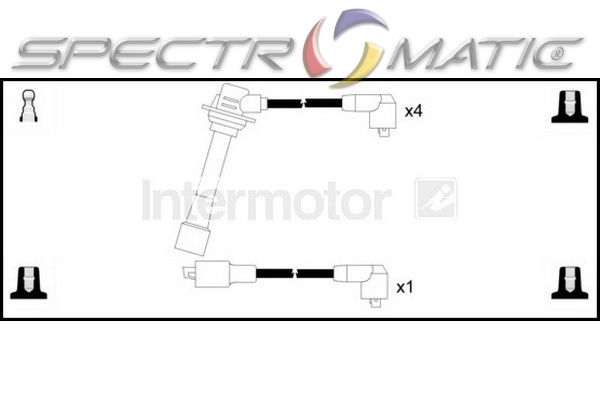 spectromatic ltd 73562 ignition cable leads kit mazda 323. Black Bedroom Furniture Sets. Home Design Ideas