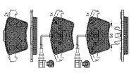 7L6 698 151 B - brake pad set VW Touareg (7LA, 7L6, 7L7) 7L6698151B
