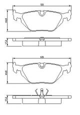 OE 34 21 6 761 239 - brake pad set rear axle BMW 3 (E36, E46)