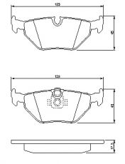 OE 34 21 6 761 281 - brake pad set rear axle BMW 5 (E39)