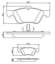 OE 002 420 96 20 - накладки предна ос Mercedes (W202, S202, C208, W210, S210)