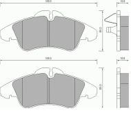 OE 002 420 99 20 - накладки предна ос MERCEDES SPRINTER V-CLASS VITO, VW LT