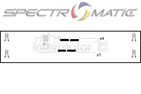 spectromatic ltd 73330 ignition cable leads kit peugeot 205 309 5967c2 5967k3. Black Bedroom Furniture Sets. Home Design Ideas