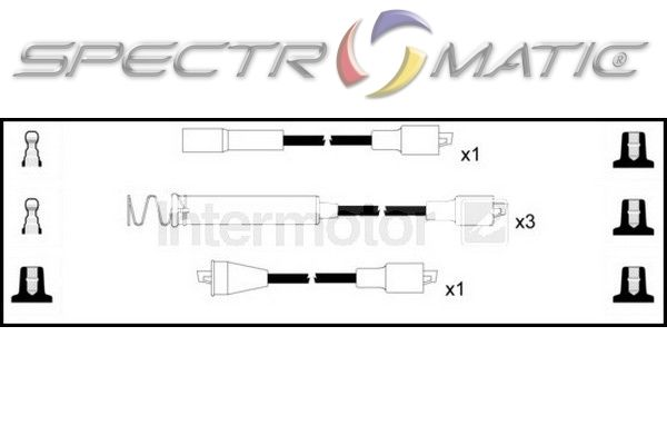 spectromatic ltd  73457 ignition cable leads kit opel ascona kadett vauxhall astra 1 8 90009357