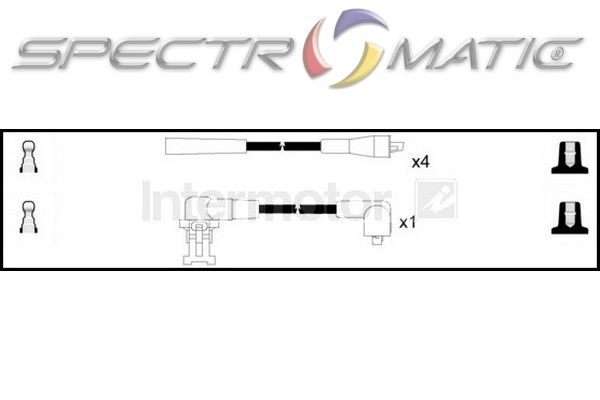 spectromatic ltd  73580 ignition cable leads kit renault clio extra van super 5 twingo volvo 340