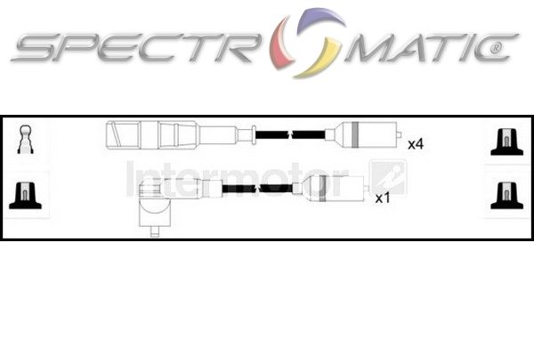 spectromatic ltd  73653 ignition cable leads kit audi a4 passat adp