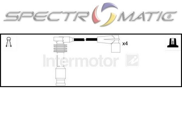 spectromatic ltd  73779 ignition cable leads kit opel corsa b 1 4 c14se x14sz