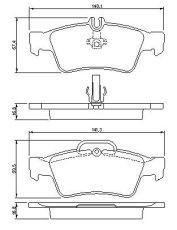 OE 003 420 51 20 - brake pad set MERCEDES CLS E-CLASS W211 S211 W212 S212 S-CLASS W220 W221 C216 SL R230